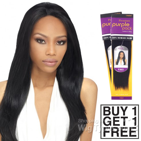 Human Hair Weave Blonde Color Weave Straight Style