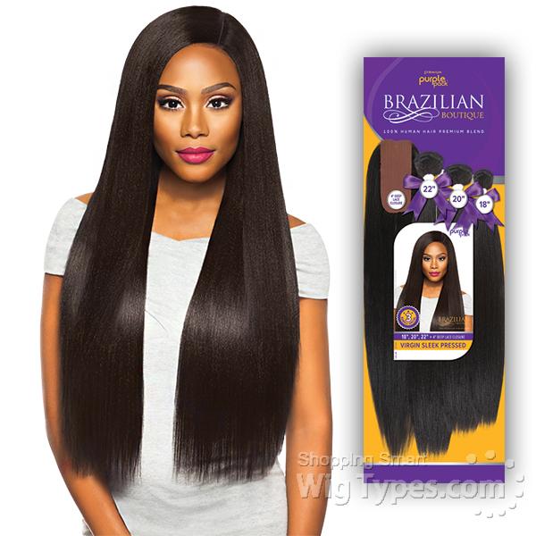 Outre Purple Pack Brazilian Boutique Human Hair Blend Weaving