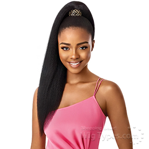Outre Synthetic Pretty Quick Wrap Pony  - JUMBO KINKY STRAIGHT 24