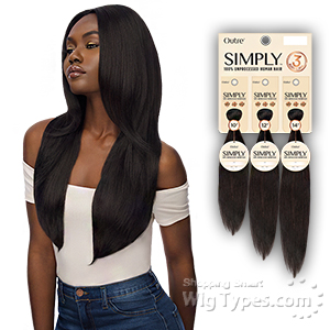 Outre Simply 100% Unprocessed Human Hair Weave - NATURAL STRAIGHT 3PCS