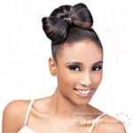 Outre Synthetic Timeless Bun - BOW BUN (Dome)