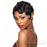 Outre 100% Remy Human Hair Swiss L Part Lace Front Wig - VELVET FINGER WAVE