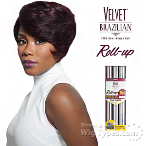 Outre Velvet 100% Remy Human Hair Weaving - VELVET BRAZILIAN ROLL UP 36PCS (2/4/6 + Closure)