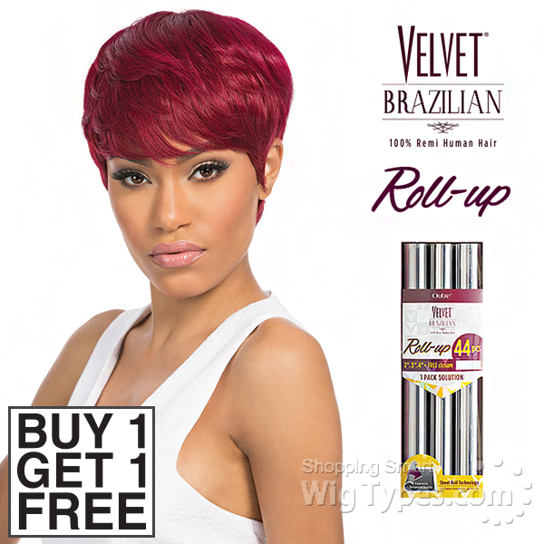 Outre Velvet 100 Remy Human Hair Weaving Velvet Brazilian Roll Up