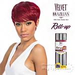 Outre Velvet 100% Remy Human Hair Weaving - VELVET BRAZILIAN ROLL UP 44PCS (2/3/4 + Closure)