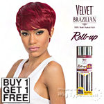 Outre Velvet 100% Remy Human Hair Weaving - VELVET BRAZILIAN ROLL UP 44PCS (Buy 1 Get 1 FREE)
