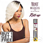 Outre Velvet 100% Remy Human Hair Weaving - VELVET BRAZILIAN ROLL UP 10 (Buy 1 Get 1 FREE)