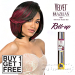 Outre Velvet 100% Remy Human Hair Weaving - VELVET BRAZILIAN ROLL UP 8 (Buy 1 Get 1 FREE)