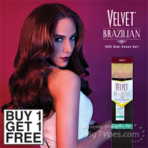 Outre Velvet 100% Remy Human Hair Weaving - VELVET BRAZILIAN NATURAL YAKI 10 (Buy 1 Get 1 FREE)