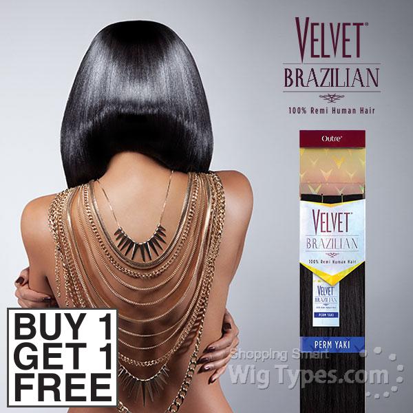 Outre Velvet 100 Remy Human Hair Weaving Velvet Brazilian Perm