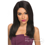 Outre 100% Remy Human Hair Lace Front Wig - VELVET NATURAL YAKI 18