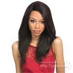 Outre 100% Remy Human Hair Lace Front Wig - VELVET PERM YAKI 18
