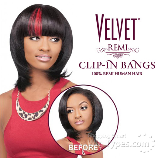 Outre 100% Remy Human Hair Bang Piece Closure - VELVET CLIP-IN DUBY ...