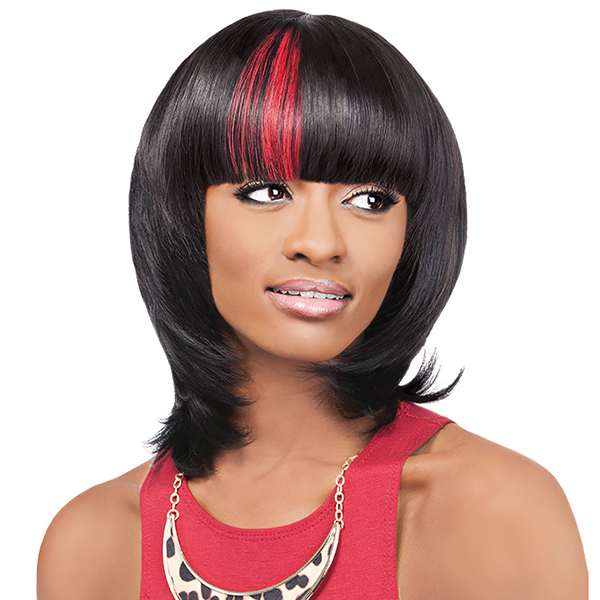 Outre 100% Remy Human Hair Bang Piece Closure - VELVET CLIP-IN DUBY TOP PIECE 6
