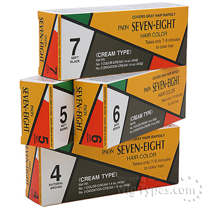Paon Seven Eight Permanent Hair Color Cream 6 Dark Brown