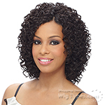 Milky Way Que Human Hair Blend Weave Short Cut Series - BEACH CURL 3PCS