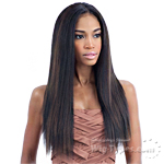 Milky Way Que Human Hair Blend Weave - MALAYSIAN IRONED TEXTURE STRAIGHT 7PCS (14/14/16/16/18/18 + closure)