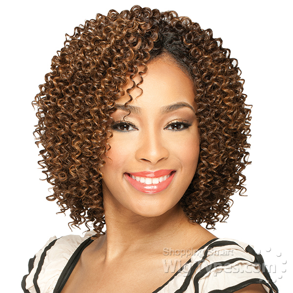 Milky Way Que Human Hair Blend Weave Short Cut Series Jerry Curl