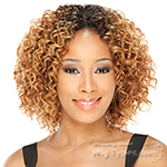 Milky Way Que Human Hair Blend Weave Short Cut Series - LUSH CURL 3PCS