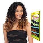 Milky Way Que Human Hair Blend Weave - MALAYSIAN KINKY CURL 7 BUNDLE (14/14/15/15/16/16 + closure)
