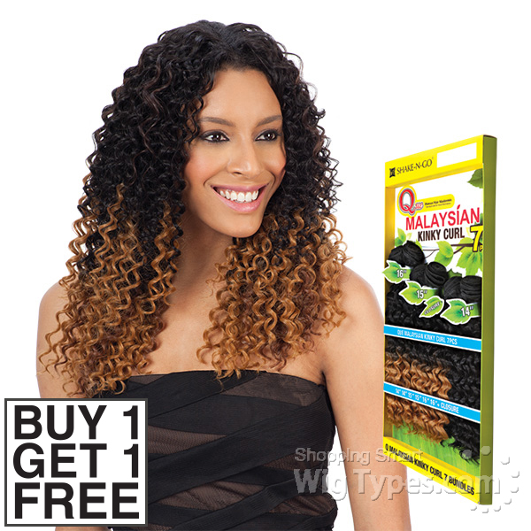 Milky Way Que Human Hair Blend Weave Malaysian Kinky Curl 7 Bundle