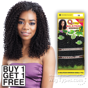 Milky Way Que Human Hair Blend Weave - MALAYSIAN BOHEMIAN 7PCS 14,15,16 (Buy 1 Get 1 FREE)