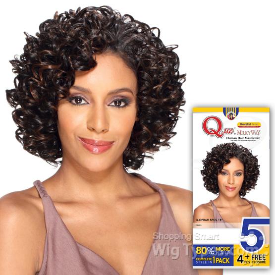 Milky way que human hair blend weave short cut series oprah 5pcs milky way que human hair blend weave short cut series oprah 5pcs 4pcs pmusecretfo Choice Image
