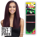 Milky Way Que Human Hair Blend Weave - MALAYSIAN IRONED TEXTURE STRAIGHT 7PCS 12,13,14 (Buy 1 Get 1 FREE)