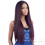 Milky Way Que Human Hair Blend Weave - MALAYSIAN IRONED TEXTURE STRAIGHT 7PCS (18/18/20/20/22/22 + closure)