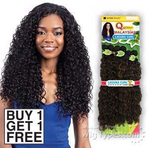 Milky Way Que Human Hair Blend Weave - MALAYSIAN LAGUNA CURL 7PCS 16,18,20 (Buy 1 Get 1 FREE)