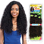 Milky Way Que Human Hair Blend Weave - MALAYSIAN LAGUNA CURL 7PCS (16/16/18/18/20/20 + closure)