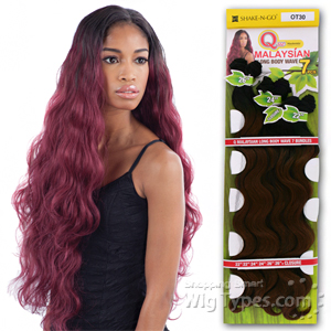 Milky Way Que Human Hair Blend Weave - MALAYSIAN LONG BODY 7 (22/22/24/24/26/26 + closure)