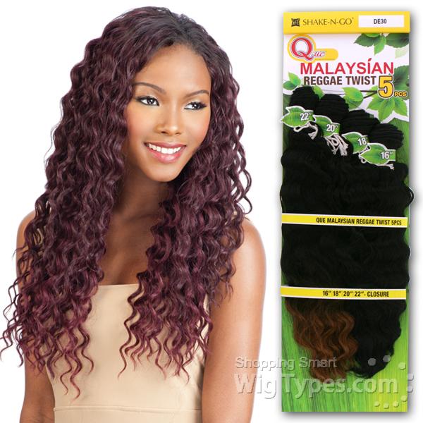 Milky Way Que Human Hair Blend Weave - MALAYSIAN REGGAE TWIST 5 (16\/18 ...