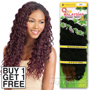 Milky Way Que Human Hair Blend Weave - MALAYSIAN REGGAE TWIST 5 (Buy 1 Get 1 FREE)