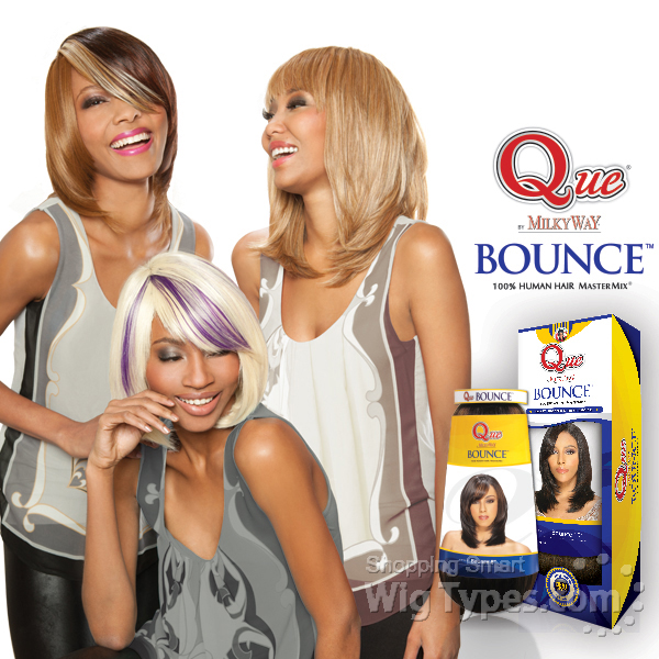 Milky Way Que Human Hair Blend Weave Bounce 8quot Wigtypes