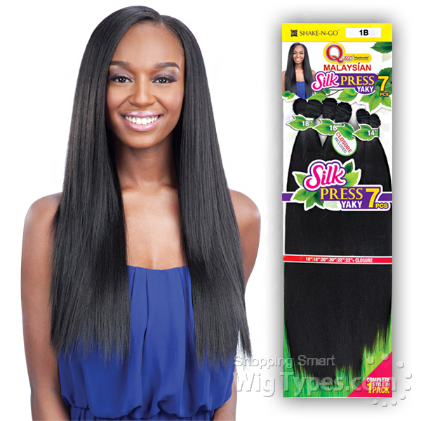 Milky Way Que Human Hair Blend Weave Malaysian Silk Press Yaky