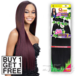 Milky Way Que Human Hair Blend Weave - MALAYSIAN SILK PRESS YAKY 7PCS 18,20,22 (Buy 1 Get 1 FREE)
