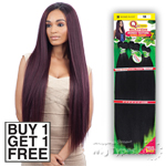 Milky Way Que Human Hair Blend Weave - MALAYSIAN IRONED TEXTURE STRAIGHT 7PCS 22,24,26 (Buy 1 Get 1 FREE)