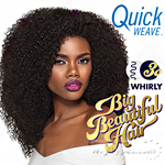 Outre Synthetic Half Wig Quick Weave - BIG BEAUTIFUL HAIR - 3C - WHIRLY (futura)