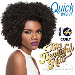 Outre Synthetic Half Wig Quick Weave - BIG BEAUTIFUL HAIR - 4C - COILY