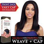 Saga Remy 100% Remy Human Hair Lace Front Wig - YAKY CAP LACE 18 (Full Sew-In, Double Weft Yaky on a Cap)