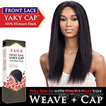 Saga Remy 100% Remy Human Hair Lace Front Wig - YAKY CAP LACE 22 (Full Sew-In, Double Weft Yaky on a Cap)