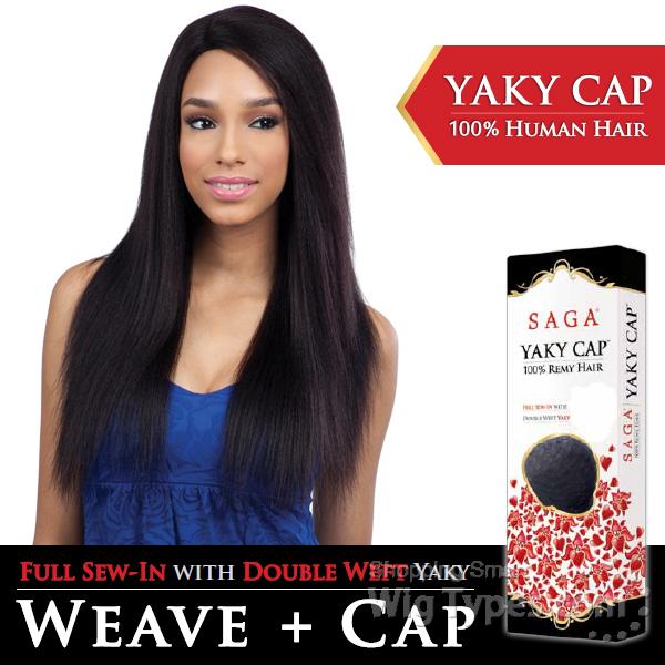 Saga Remy 100 Remy Human Hair Wig Yaky Cap 24 Full Sew