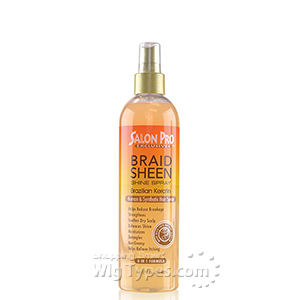 Salon Pro Braid Sheen Shine Spray Brazilian Keratin 12oz