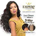 Sensationnel 100% Human Hair Lace Closure - EMPIRE BODY WAVE 12