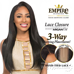 Sensationnel 100% Human Hair Lace Closure - EMPIRE YAKI 12