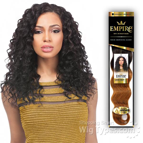1d5182e0d76 Sensationnel 100% Human Hair Weaving - EMPIRE LOOSE DEEP 12