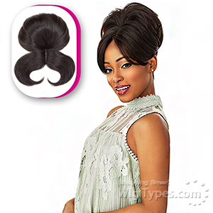 Sensationnel Synthetic Instant Bun with Bangs - EVONNE