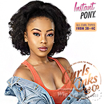 Sensationnel Curls Kinks & Co Synthetic Ponytail Instant Pony - RAIN MAKER