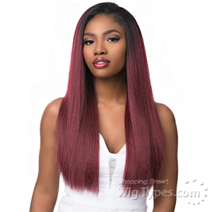 Sensationnel Synthetic Half Wig Instant Weave Boutique Bundles - KINKY STRAIGHT (futura)